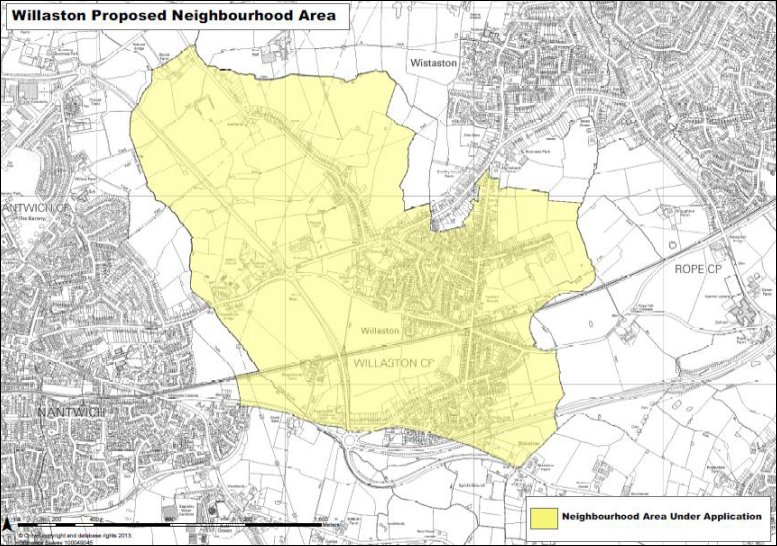 Map of Willaston Proposed Neighbourhood Area
